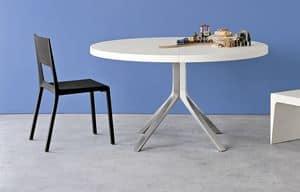 Face, Sedia in alluminio e poliuretano stampato, facile da pulire