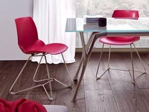 Kaleidos 3, Sedia in metallo e tecnopolimero riciclabile, per Ufficio