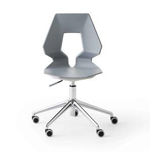 Prodige 5R, Sedia per ufficio moderno, con ruote, in metallo e polimero