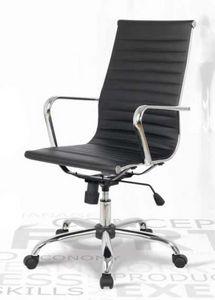 Lab-P, Sedia in pelle per ufficio, regolabile in altezza