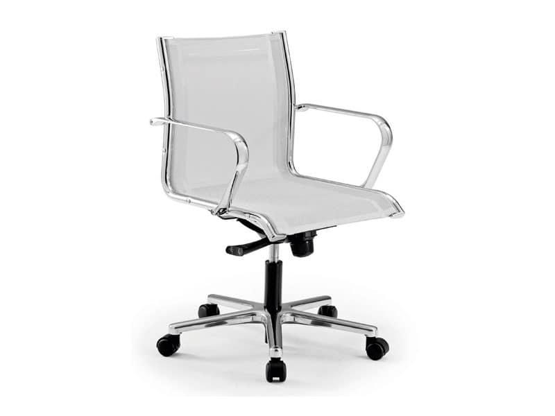 Origami RE direzionale 70221, Poltrona per ufficio con seduta e schienale in rete