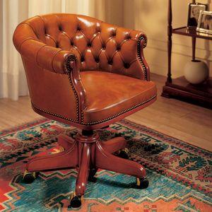 EISENHOWER, Lussuosa sedie in pelle per ufficio direzionale