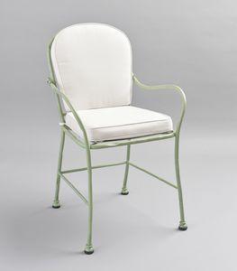 BAMBOO GF4012CH, Sedia in ferro verde per esterni