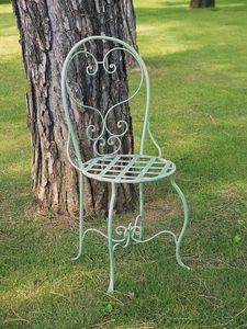 CAFF� GF4011CH, Sedia in ferro battuto decorato, per uso esterno