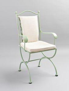 ROMBI GF4002CH-B, Sedia in ferro per esterno con cuscini