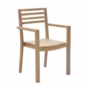Dehors 0345, Sedia impilabile in legno, per esterni