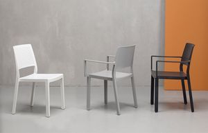 NINA S, Sedia in tecnopolimero per esterni