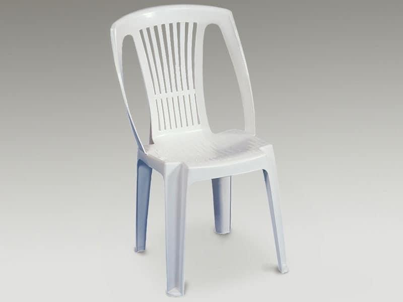 Stella, Sedia in plastica per uso esterno