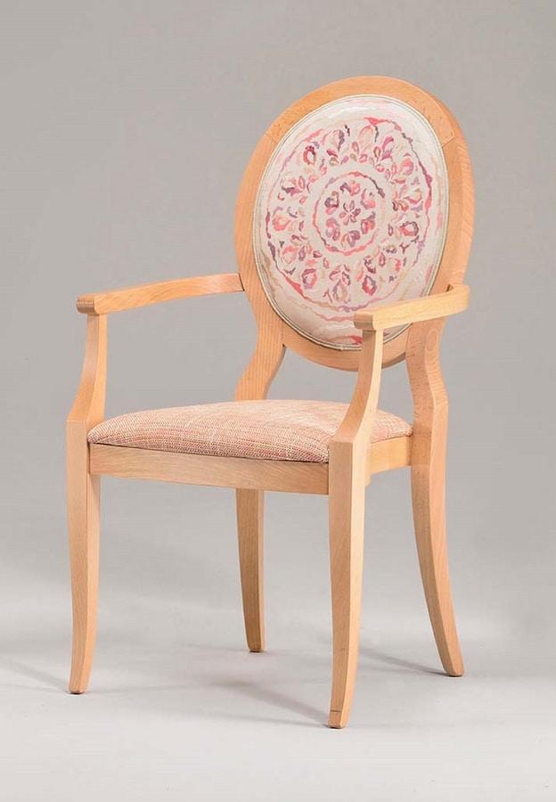 S11, Sedia in legno con braccioli