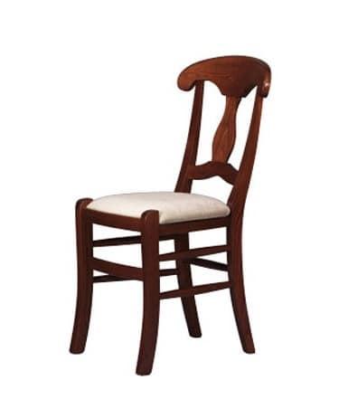 216, Sedia rustica in legno massello, per ristoranti e pizzerie