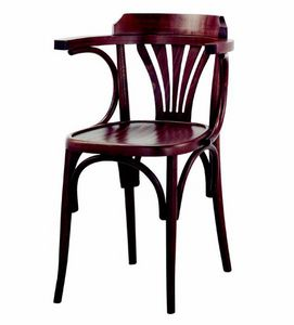 99 Milano/P, Sedia in legno curvato, con braccioli
