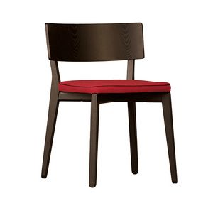 Camilla 5109/F, Sedia in legno con seduta imbottita
