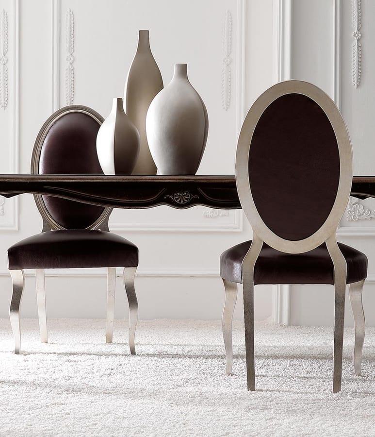 Chantal Art. 674, Sedia da pranzo con schienale ovale