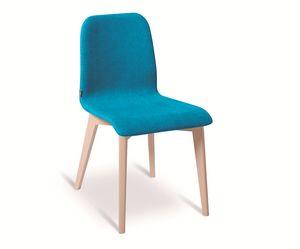 Ciao-W, Sedia con gambe in legno