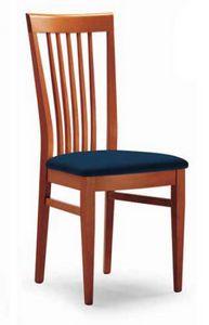 Cipria, Sedia con schienale a motivo verticale