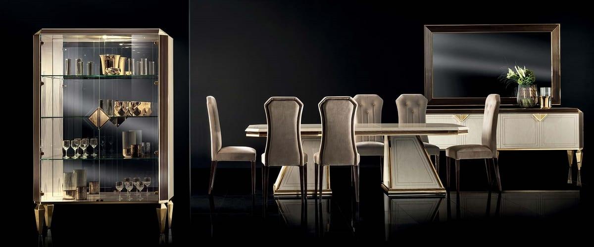 DIAMANTE sedia, Elegante sedia per sala da pranzo