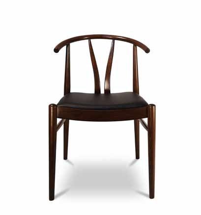 DUBLINO, Sedia in legno con seduta imbottita