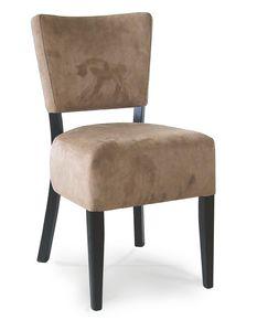 PORTOCERVO S, Sedia in legno con seduta imbottita