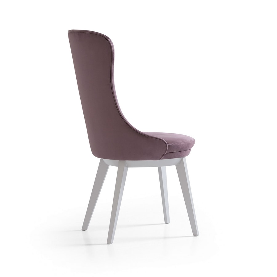 Robin Art. 604-B, Sedia in legno imbottita, per raffinate sale da pranzo