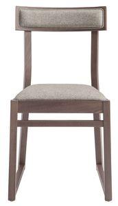 SE 439, Sedia in legno con seduta imbottita