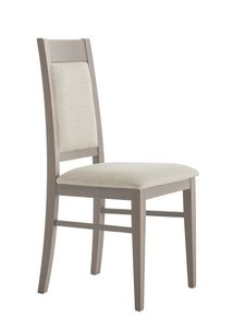 SE 490/A, Sedia in legno con schienale e seduta imbottita
