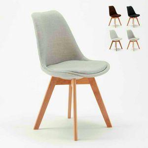 Sedie Con Cuscino Tessuto Design Scandinavo NORDICA PLUS Per Cucina E Bar, Sedia imbottita stile scandinavo