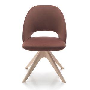 Vivian chair, Sedia imbottita con base in legno