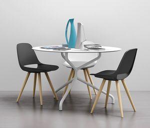 Cosmo 4G, Sedia con gambe in legno