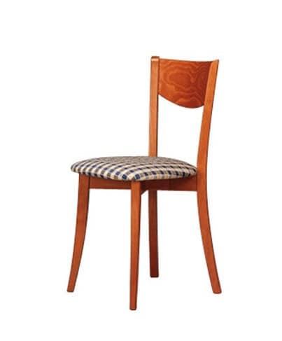 251, Sedia semplice, seduta circolare, per sala da pranzo