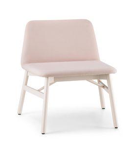 ART. 0038-LE BARDOT LOUNGE, Sedia lounge con larga seduta