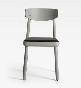 Isa, Sedia moderna in legno, seduta imbottita