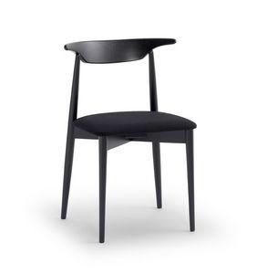 MUSICA, Versatile sedia con seduta imbottita, spalliera ergonomica