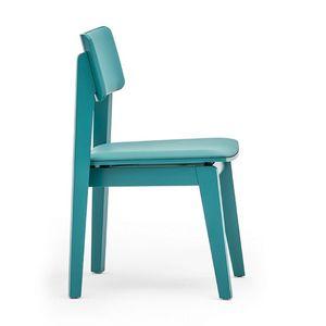 Offset 02813, Sedia in legno massiccio, seduta e schienale imbottiti