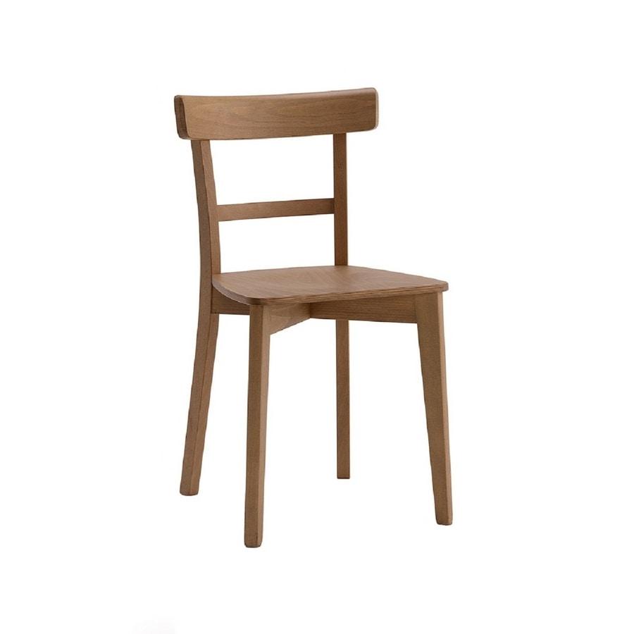 370, Sedia in legno dal design semplice