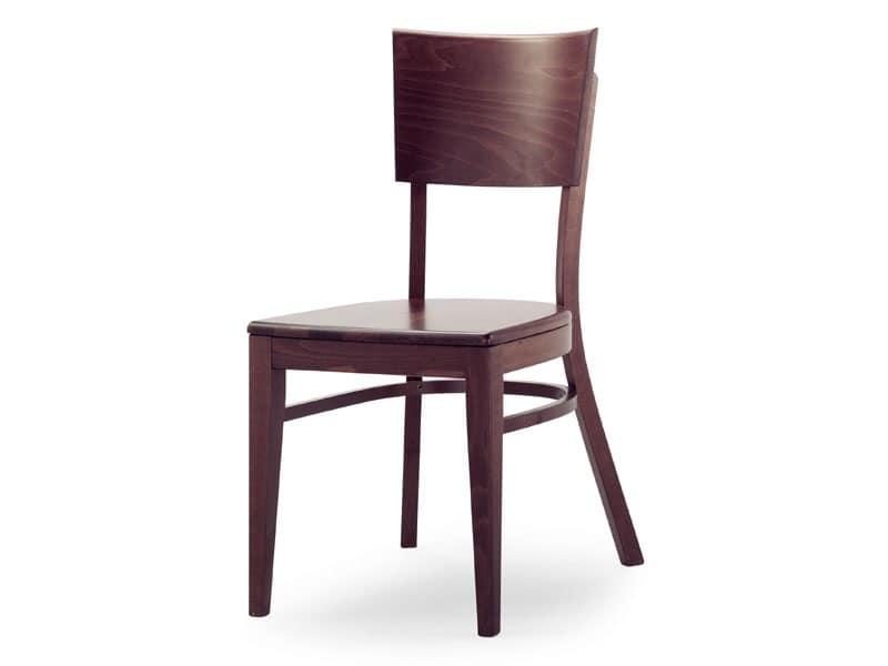 A2, Sedia in legno senza braccioli