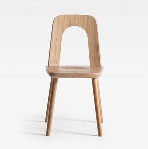 Arco, Sedia in legno, dalla forma dinamica
