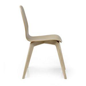 Mil� Wood, Sedia in legno, dal design pulito