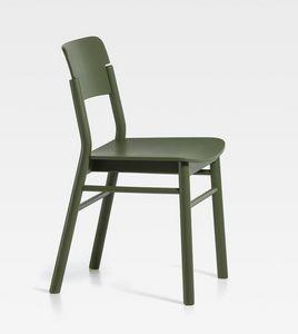 Pop, Sedia in legno dalle linee pulite