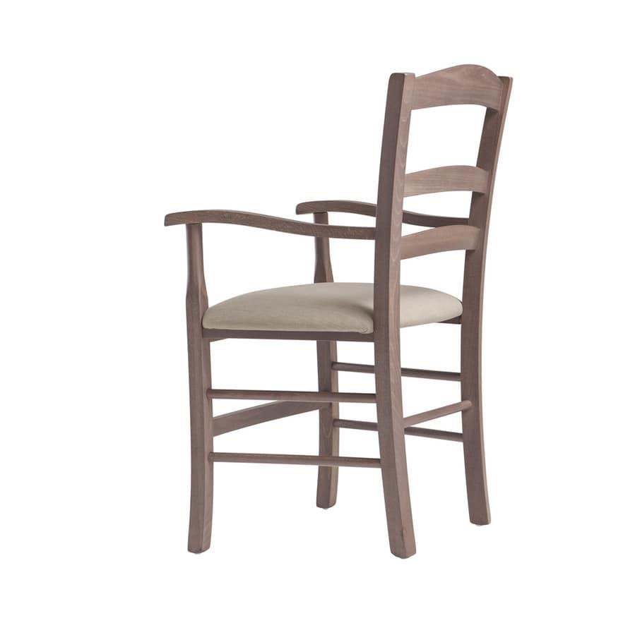 RP42AP, Sedia in legno con braccioli