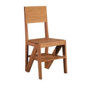 Scala 5268/F, Sedia in legno trasformabile in scala