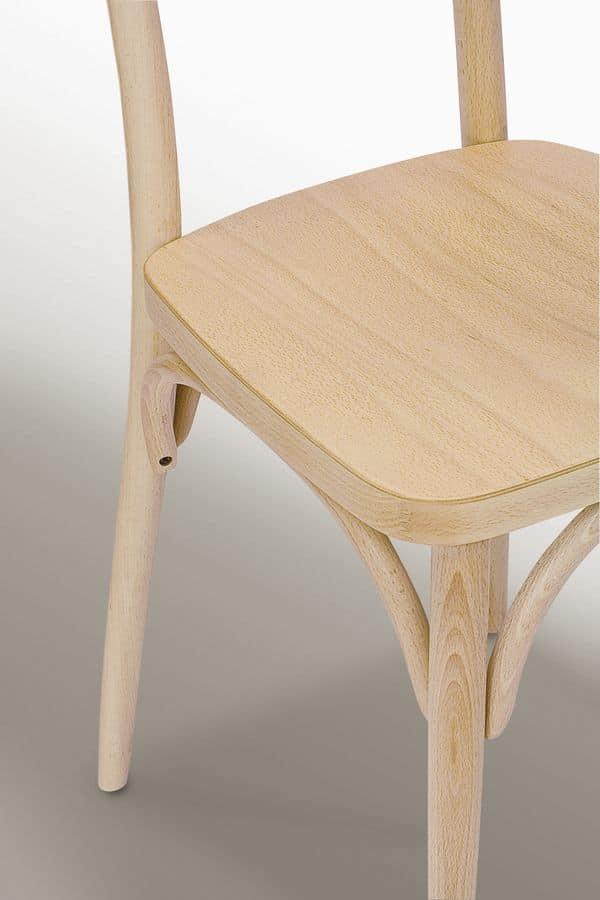 Wien, Sedia in legno, per uso contract