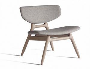 Eco 501T, Sedia lounge con sedile e schienale imbottiti