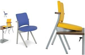 Art.Woox 3, Sedia in alluminio o ferro verniciati, personalizzabile