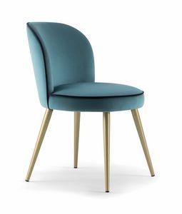 CANDY SIDE CHAIR 061 SL, Sedia con gambe coniche in metallo