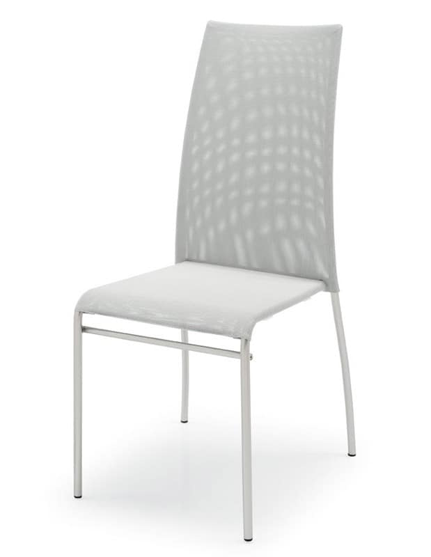 Sedie In Metallo Verniciato Seduta E Schienale In Plastica Vari Colori Idfdesign