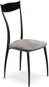 Vilma New sedia, Sedia in metallo con seduta imbottita