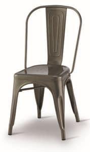 SE 500 / INT, Sedia in metallo verniciato, impilabile, per ristoranti