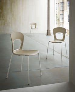 Blog, Sedia con seduta in plastica, per Pasticcerie alla moda