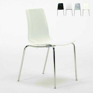 Sedie bar cucina gambe acciaio impilabile LOLLIPOP Grand Soleil - S3343N, Sedia impilabile economica in policarbonato