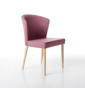 Kontè 4 gambe, Elegante sedia imbottita in poliuretano schiumato